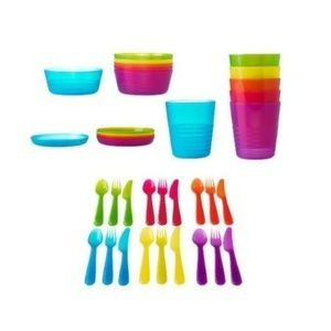 New IKEA Kalas kids tableware discontinued colors